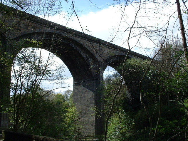 Dean Bridge from Water of Leith Walkway