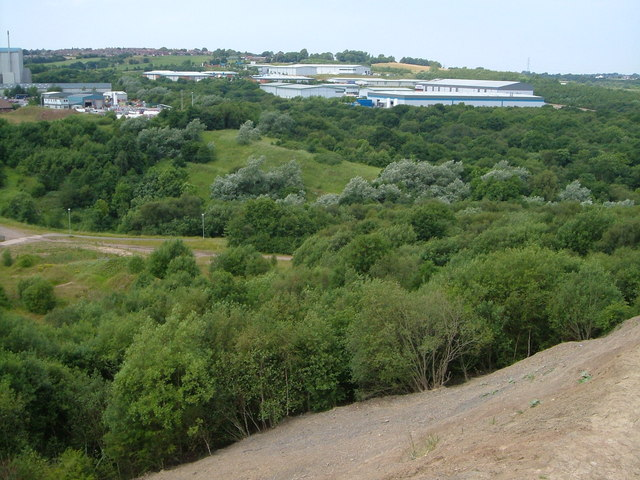 Towards High Carr Business Park from Bradwell Wood