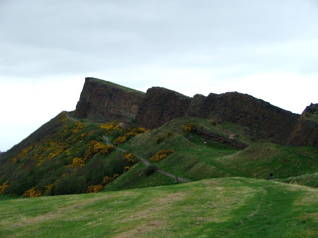Salisbury Crags from Queen's Drive