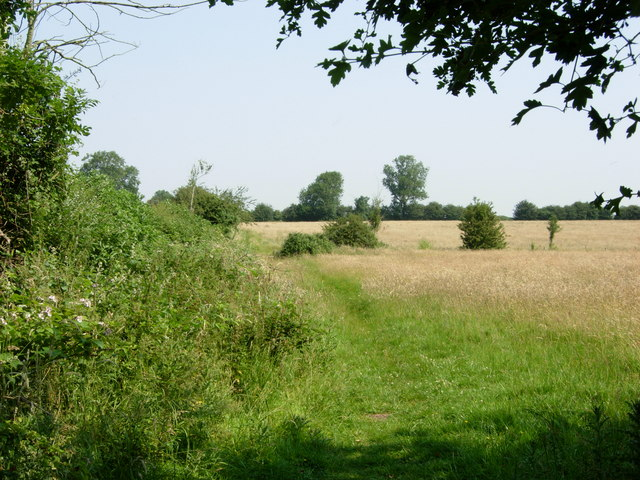 Bridleway near Dunton Bassett