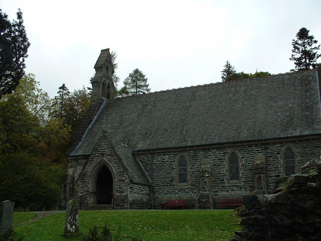 Modern church at Rob Roy's resting place
