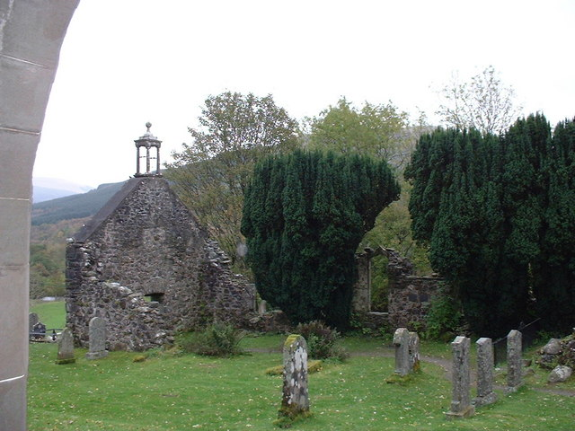 Old ruined church at Rob Roy's resting place