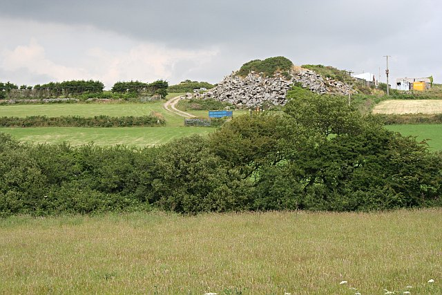Spoil Heap from a Granite Quarry