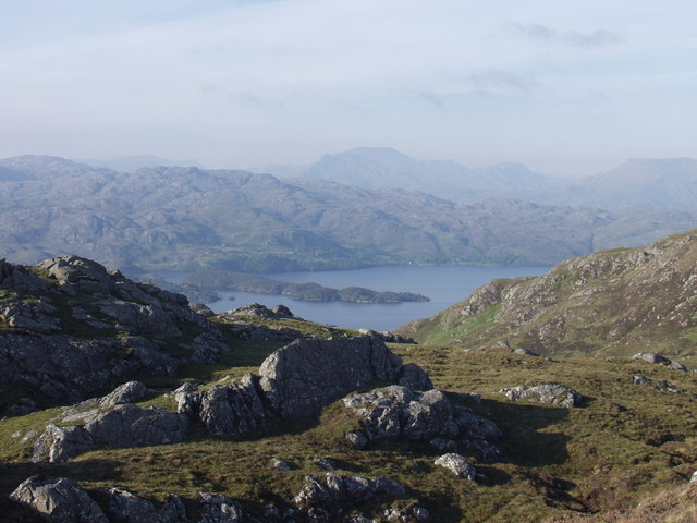 View from un-named crags towards Loch Morar