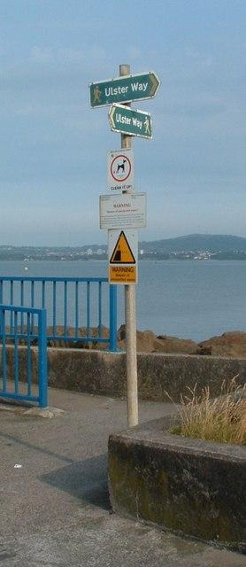 Ulster Way Signpost, Holywood