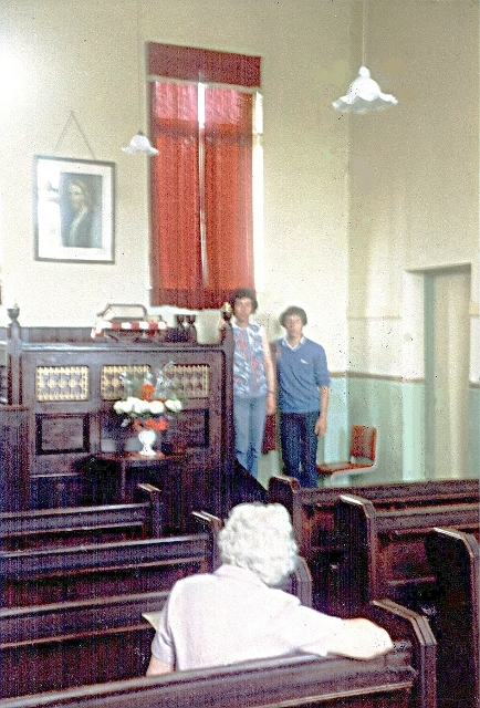 Methodist Chapel - Sweetham - interior c1980
