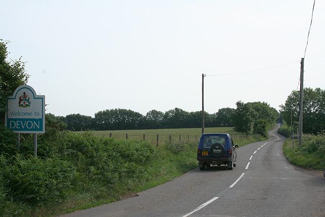 Morebath: the Devon border