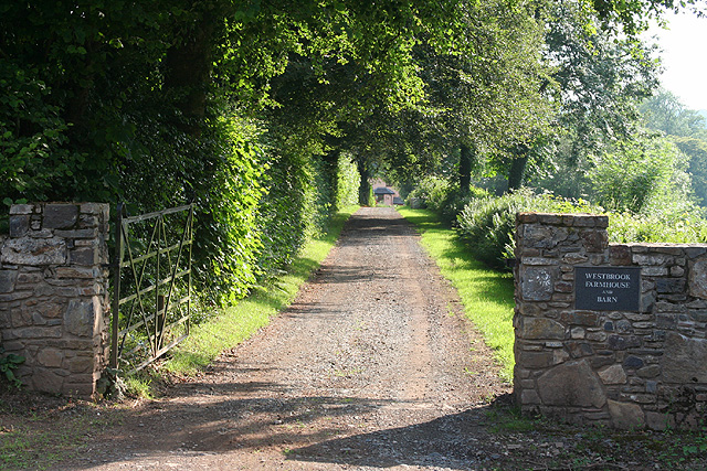 Bampton: entrance to Westbrook Farmhouse