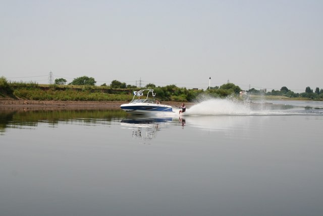 Waterskiing on the River Trent