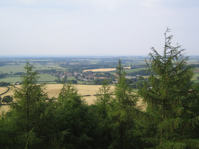 Swainby seen from the viewpoint in Clain Wood