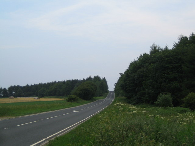 The A170 road six miles west of Helmsley