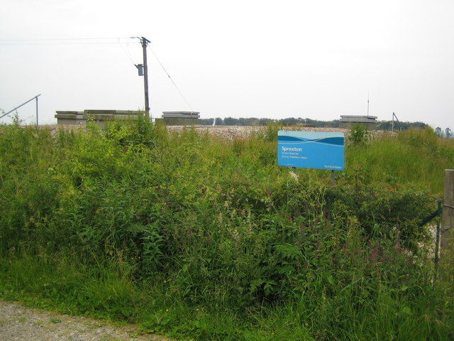 Sproxton service reservoir adjacent to A170