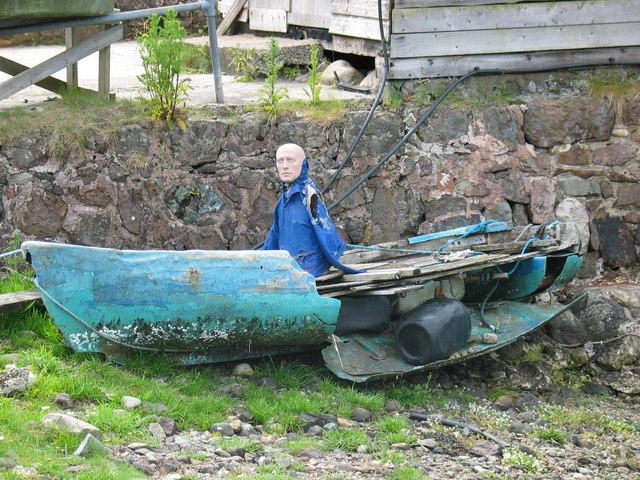 Shipwrecked mariner at Auchnacloich Pier.