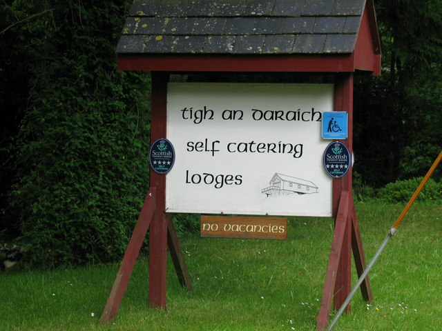 Sign at entrance gate to lodges.