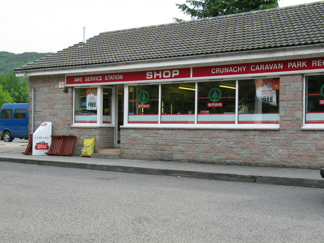 Crunachy Caravan Park reception and shop.