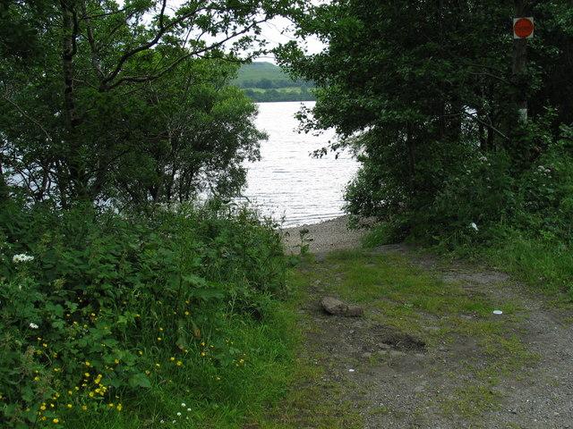 Loch Awe - track leading to loch side.