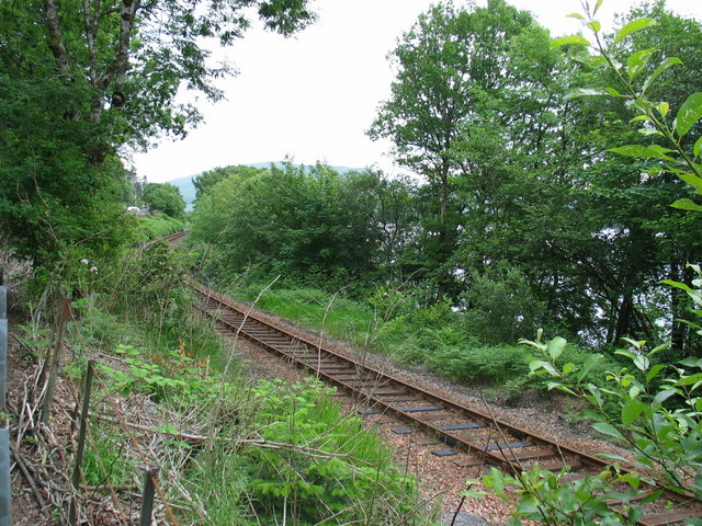 Railway line near Lochawe village.