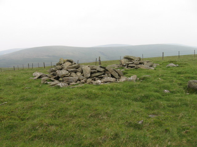 Cairn or pile of stones on Gana Hill