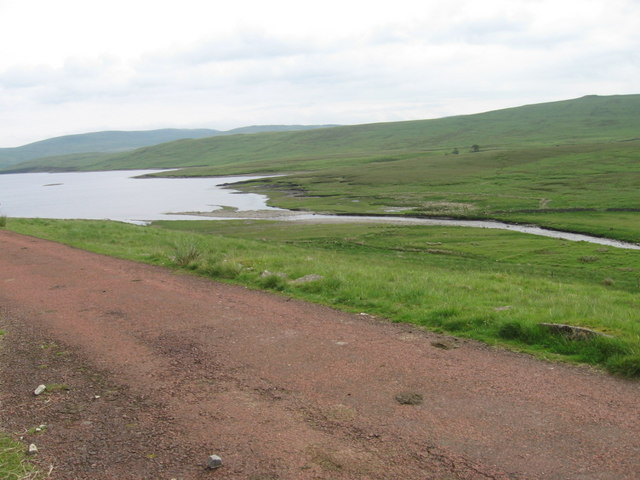 The head of the Daer Reservoir