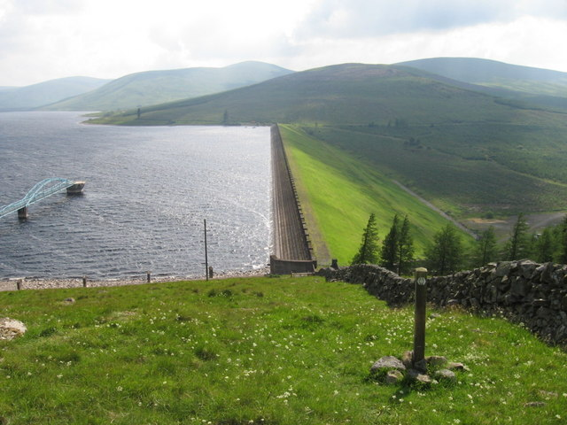 Southern Upland Way at Daer Reservoir
