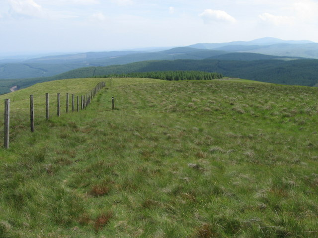 Southern Upland Way at Hodds Hill