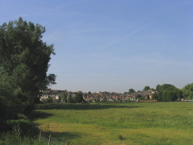 Newport Pagnell from Great Ouse meadows