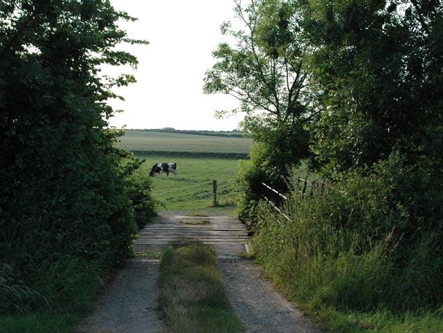 Bridge for a farm track over Rea Brook