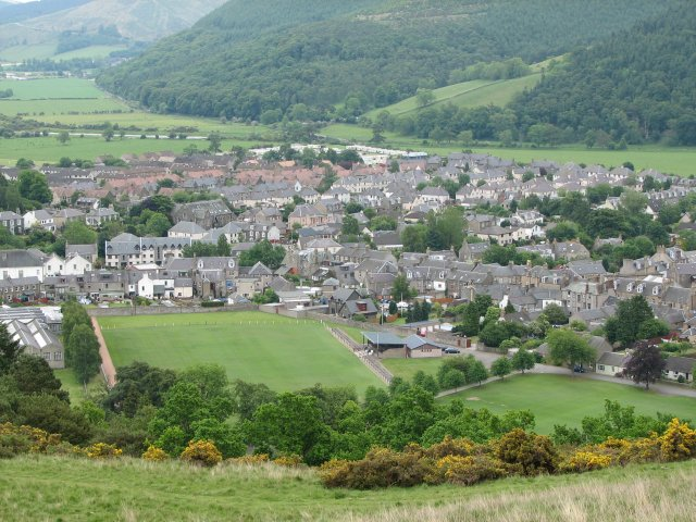 Innerleithen from Caerlee Hill