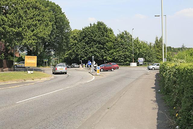 Roundabout on A354, Harnham, Salisbury