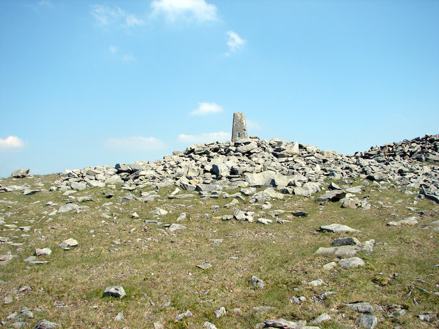 Trig Pillar, Plynlimon, 752m