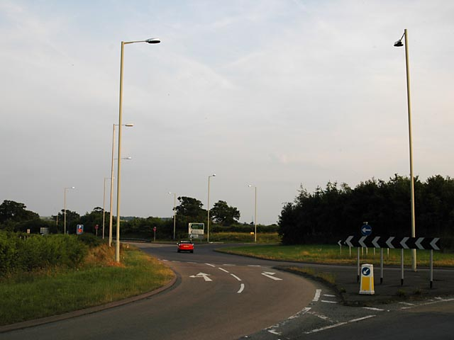Junction of A5 and A488