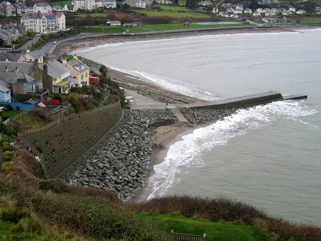 Sea Defences from Criccieth Castle