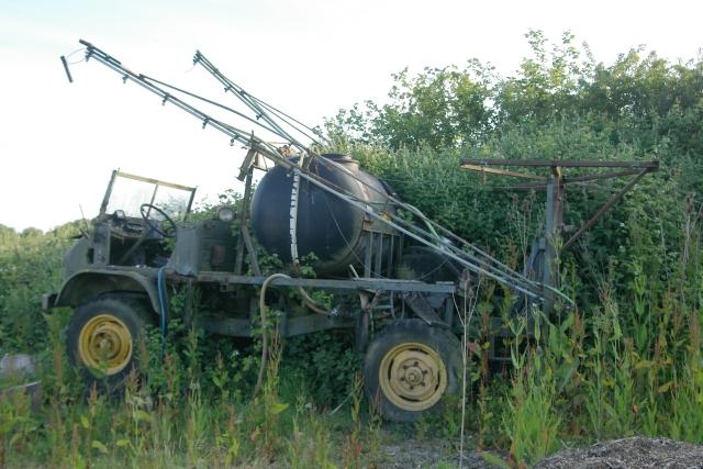 Disused Mercedes crop-sprayer