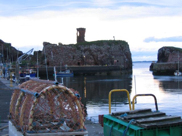 Lobster pots, Dunbar harbour