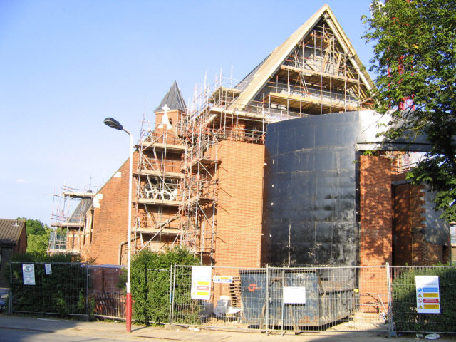 All Saints being rebuilt