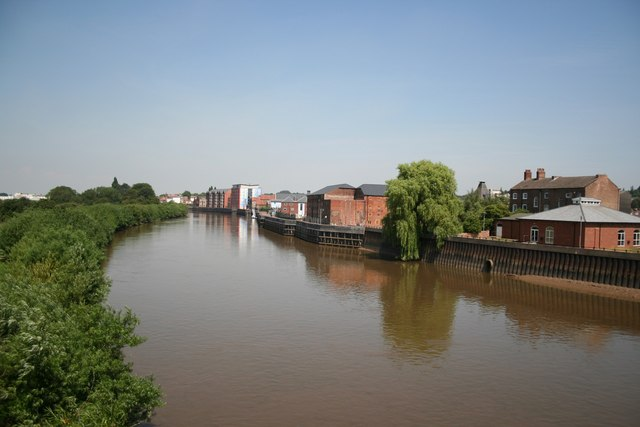 Gainsborough wharfage from Trent Bridge