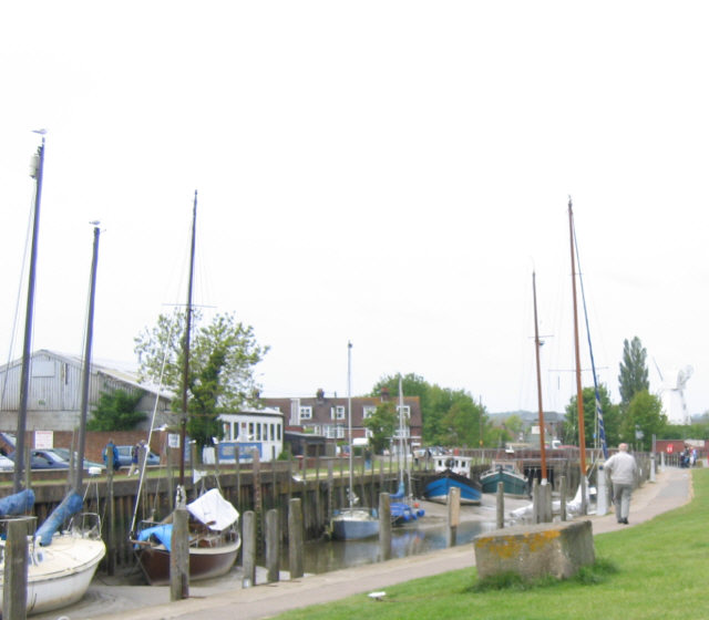 Boats at low tide, Rye
