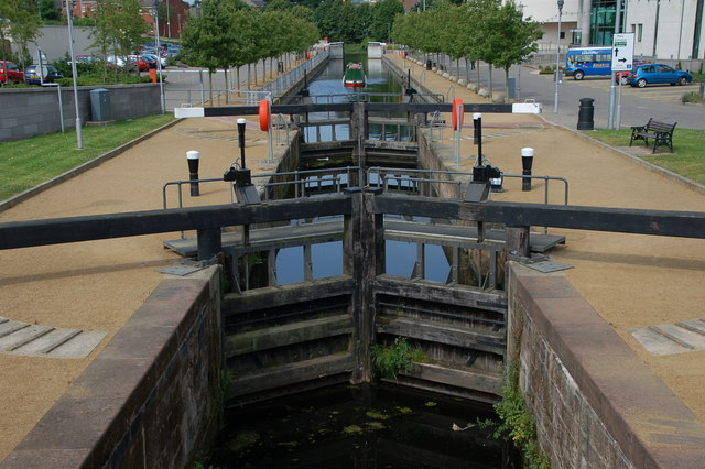 Lisburn lock, disused Lagan Navigation