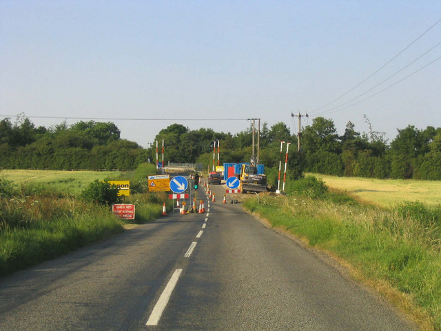Major road works on minor road!