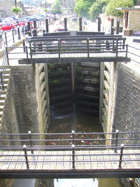 The new lock, Sowerby Bridge