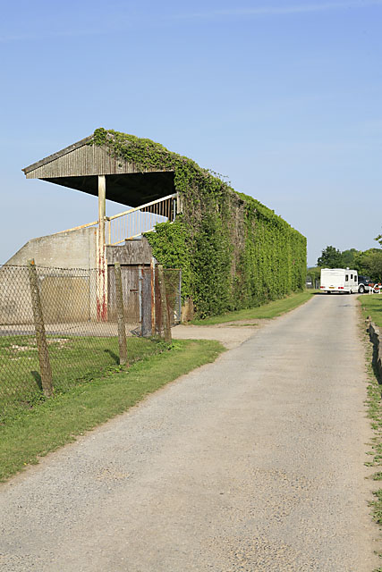 Dilapidated stand at Salisbury Racecourse