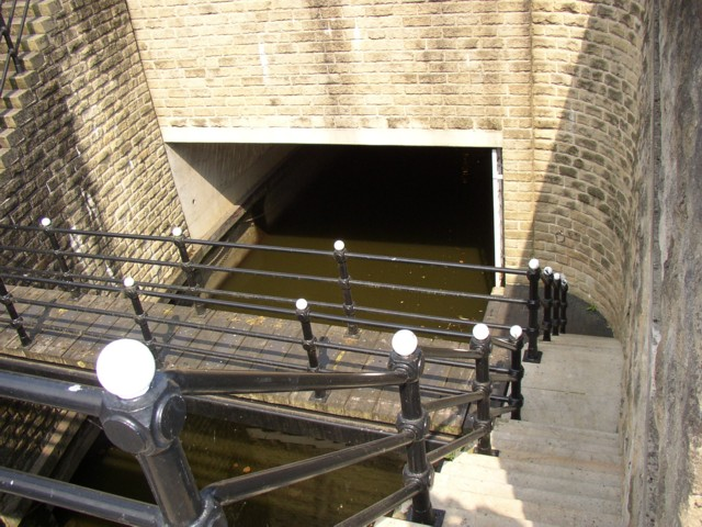 The western end of the canal tunnel, Sowerby Bridge