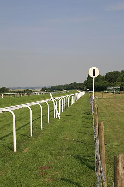 Salisbury Racecourse, looking east down main straight