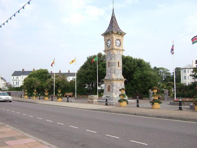 Diamond Jubilee Memorial Clock Tower, Exmouth.
