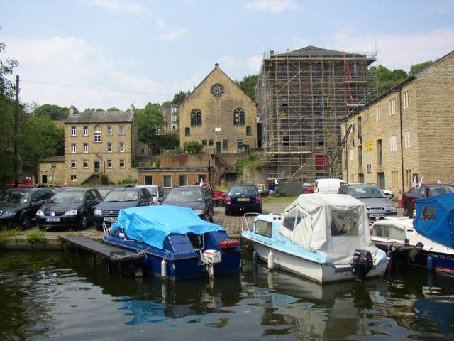 Buildings between Bolton Brow and the canal wharf, Sowerby Bridge