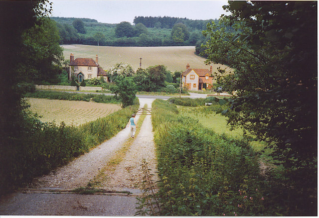 Downhill to Wolverstone Farm.