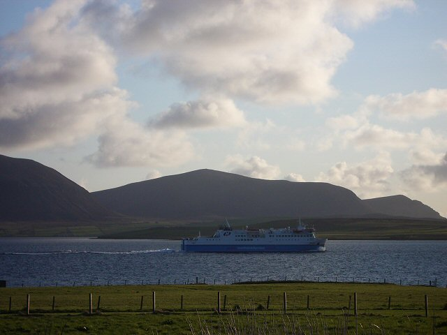 Northlink ferry in Scapa Flow