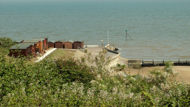 View from Walton cliffs near Frinton, Essex