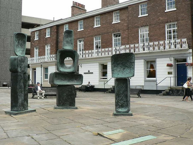 Sculpture, Wood Street and Rishworth Street, Wakefield
