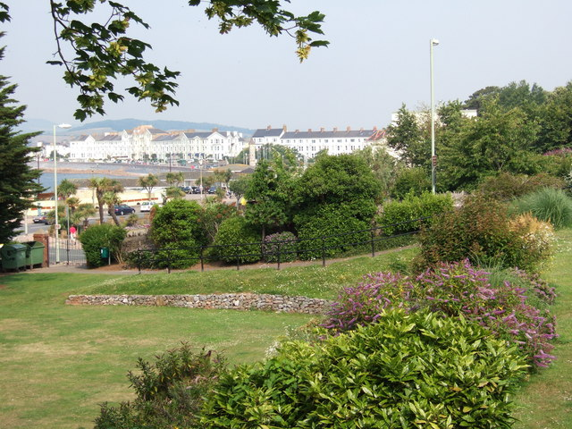 View across Exmouth sea front.